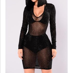 Isabel's rhinestone dress fashion nova